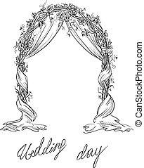 arch., decoration., vector., casório
