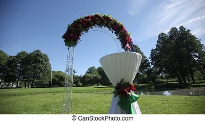 Arch for the wedding ceremony Flower decorations - Arch for...
