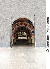 Arch gateway in church