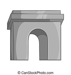 Arch icon, black monochrome style