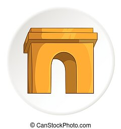 Arch icon, cartoon style