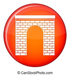 Arch icon, flat style