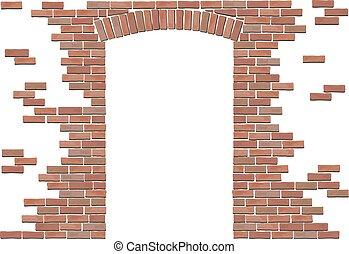 arch in brick wall