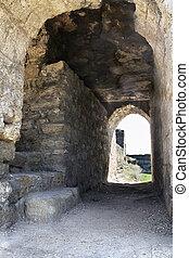 Arch in the old castle in Belgorod-Dniester