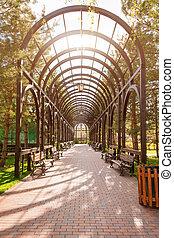 arch., kert, liget, parkosít, műkertészeti, táj