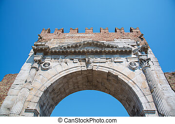 Arch of Augustus - Roman gate and historical landmark of ...