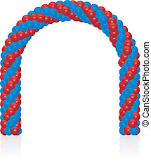 arch of balloons - Arch of balloons twisted in a spiral form...
