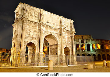 Arch of Constantine near the Colosseum
