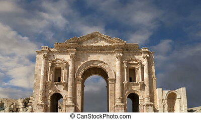 Arch of Hadrian in Gerasa (Jerash)