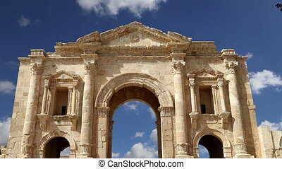 Arch of Hadrian in Gerasa.Jordan