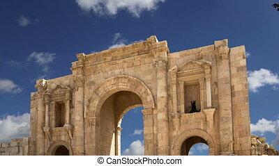 Arch of Hadrian in Gerasa.Jordan