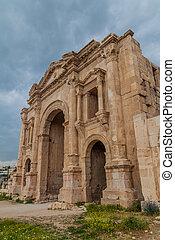 Arch of Hadrian in Jerash, Jord