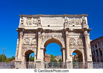 Roman Forum - Arch of Septimius Severus in famous ancient...
