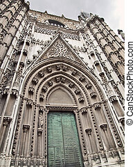 Arch of Seville Cathedral, Andalusia, Spain