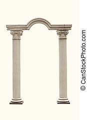 arch of the columns