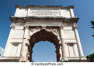 Arch of Titus in Roman Forum, Rome - The Arch of Titus (Arco...