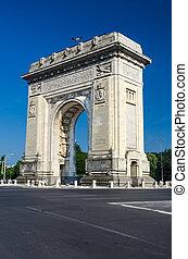Arch of Triumph, Bucharest, Romania - Arch of Triumph is...