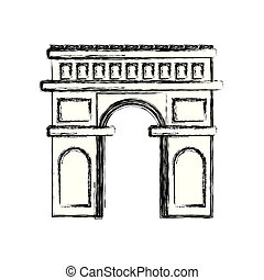 arch of triumph icon