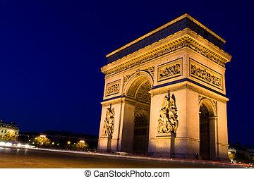 Arch of Triumph. Night