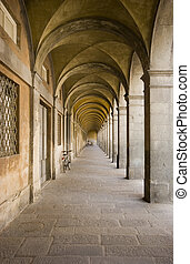 Arch passageway - An arched passageway in the town of Lucca,...