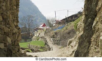 Arch to nepalese village Lho. Manaslu circuit trek. - Arch ...