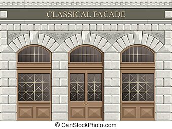 Arch vector 2. - Classical arch of hewn stone in vector ...