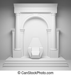 Arch with throne - Columns with arch and throne