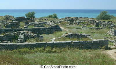 Archaeological excavations ruins of ancient Greek settlement...
