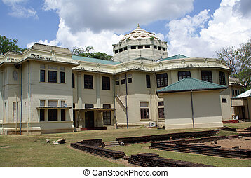 Archaeological museum in Anuradhapura, Sri Lanka