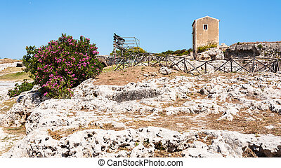 Archaeological Park of Syracuse city in Sicily - travel to...