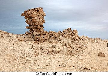 Archaeological site in Al Zubarah. Qatar, Middle East