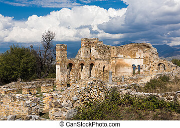 Archaeological site in Greece - Ruins of the Basilica of ...