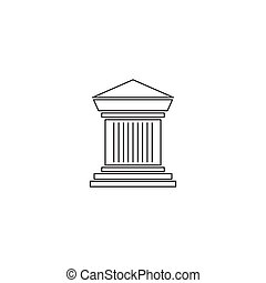 Archaeological site line icon - Archaeological site vector...