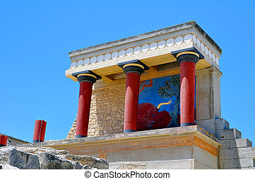 Archaeological site of Knossos. Minoan Palace. Crete. - ...