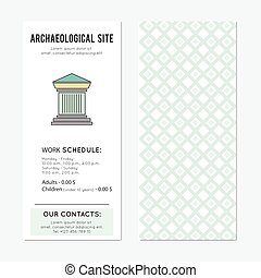 Archaeological site vertical banner - Archaeological site...