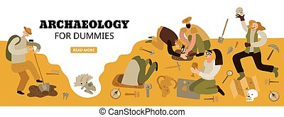 Archaeology Web Header - Archaeology for dummies web page...