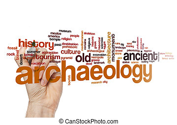Archaeology word cloud