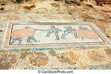 Archaic Roman era mosaic found at ancient Dion of Greece