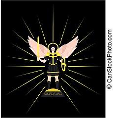Archangel Michael. Colored