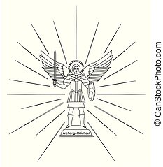 Archangel Michael. Outline only