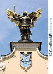 Saint patron of Kiev - archangel Michael. Local people call him Batman.