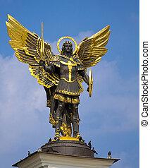 Archangel Michael Saint patron of Kiev in independence...