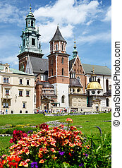 Royal Archcathedral Basilica of Saints Stanislaus and Wenceslaus on the Wawel Hill, Poland. It's Polish national sanctuary and traditionally has served as coronation site of monarchs, unesco heritage