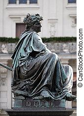 Archduke Johann Fountain, allegorical representation of the...