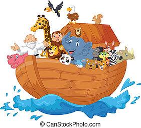 arche, dessin animé, noé