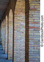 Arched Brick Columns