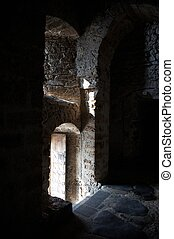 Arched Doorway in a Medieval Castle