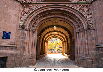 Yale University - Arched gate at Yale University in New...