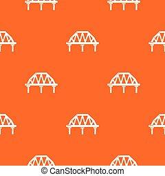 Arched train bridge pattern vector orange
