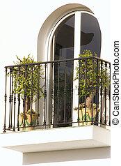 window with a balcony
